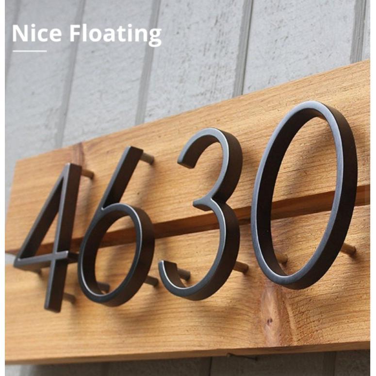 表札 番号 新品未使用正規品 壁 ドア ハウスナンバー プレート用 数字 記号 アルファベット inch.125mm 屋外 5 フローティング 絶品