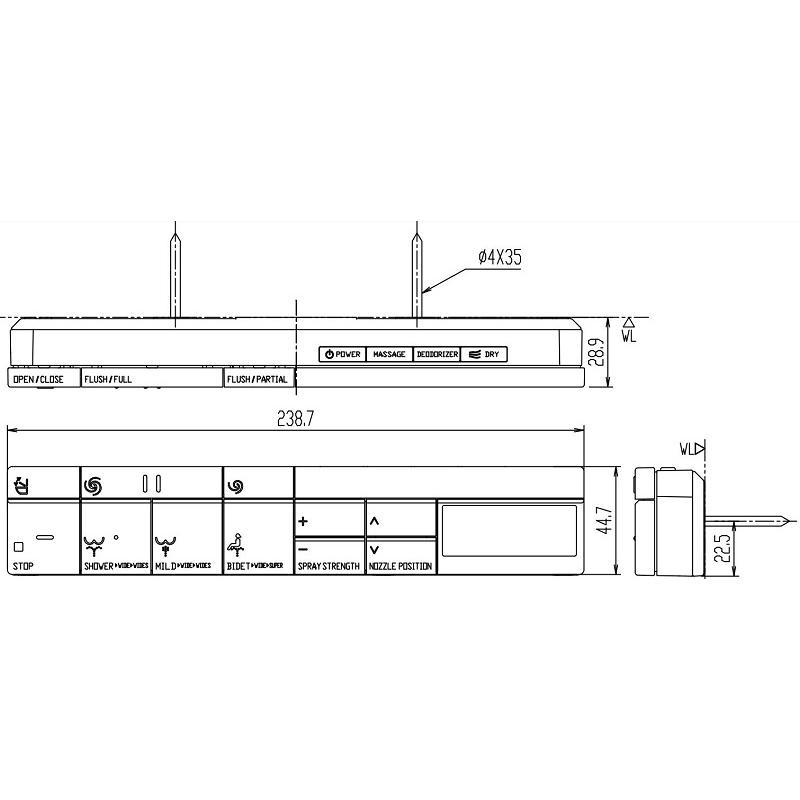 LIXIL INAX サティス DV-S526T DV-S526 高い素材 DV-S516タイプ用 スマートリモコン 英字タイプ トラスト 354-1574-EG-LSET