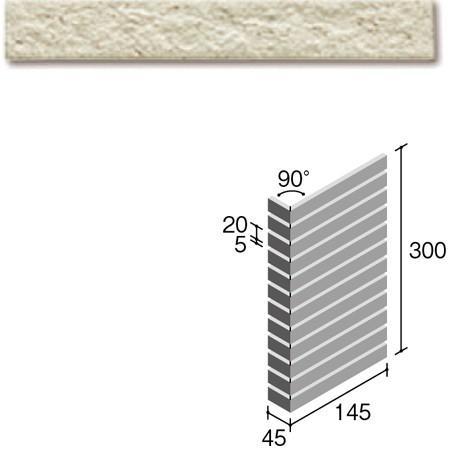 ニッタイ工業株式会社 外装壁タイル フレーバー(接着剤張り工法) FL203/1BSM ボーダー曲り(ユニット)
