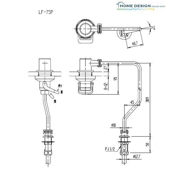 超人気 直輸入品激安 LIXIL INAX AWL-75A用プッシュ式水栓部 LF-75P