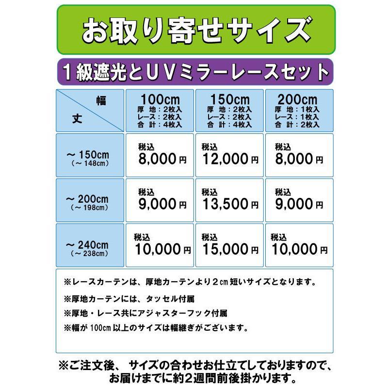カーテン 遮光 4枚組 送料無料 遮光とUVミラーレースのお買得4枚組カーテン|home-fashion-rush|11