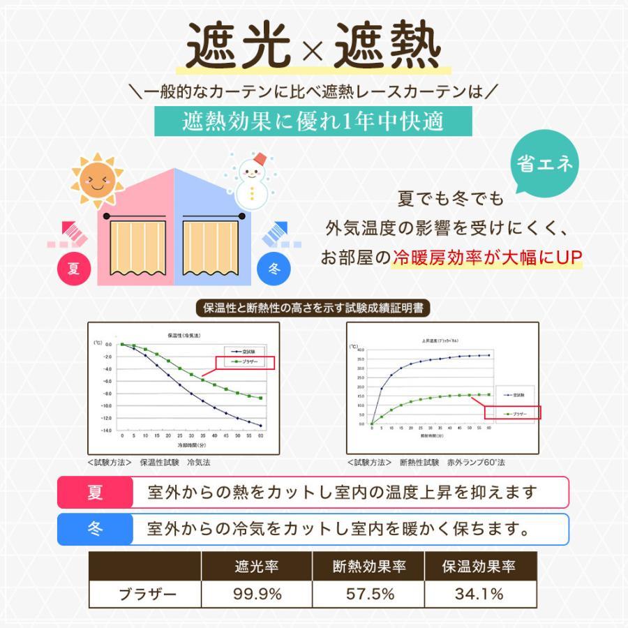 カーテン 遮光 4枚組 送料無料 遮光とUVミラーレースのお買得4枚組カーテン|home-fashion-rush|07