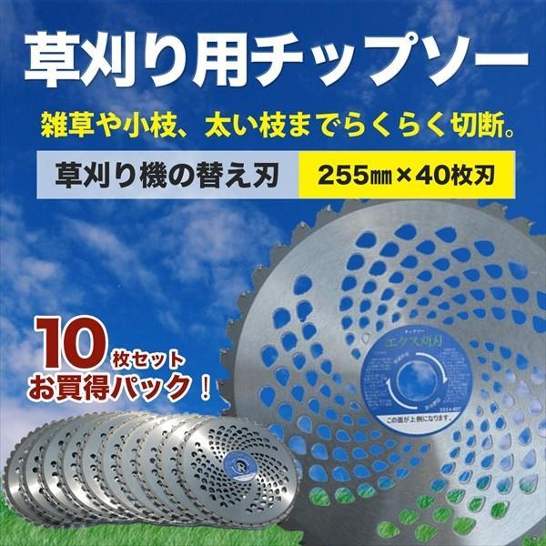 草刈機用 チップソー 255mm 40P 10枚