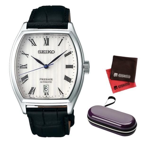 (時計ケース·クロスセット)(国内正規品)(セイコー)SEIKO 腕時計 SARY113 (プレザージュ)PRESAGE メンズ 牛革バンド 自動巻き(手巻付)