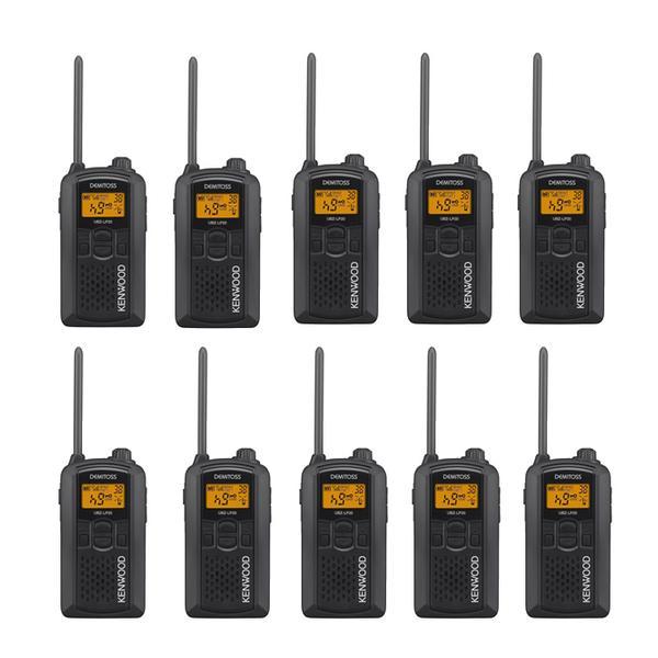 (10台セット)ケンウッド(KENWOOD) 特定小電力トランシーバー UBZ-LP20(B) ブラック (デミトス/DEMITOSS)(無線機)(メール便不可)(ラッピング不可)
