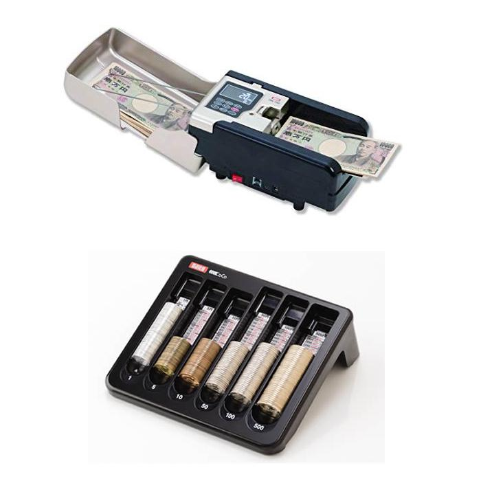 (セット)(紙幣計数機) ダイト DN-150 ハンディノートカウンター+ダイト コインカウンターCC-300 (メール便不可)