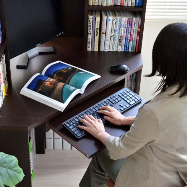 パソコンデスク l字 コーナー 三角 ダブルディスプレイ対応 日本製 送料無料 新生活  リモートワーク テレワーク 在宅勤務 ホームオフィス js115dbr homestyle 11