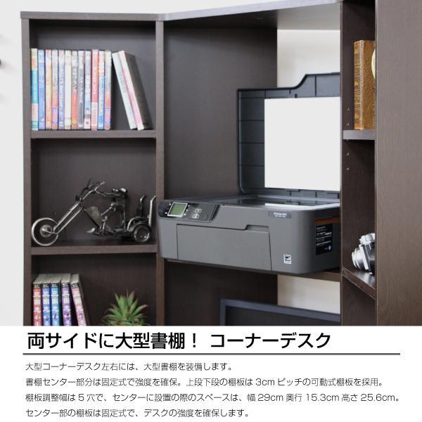パソコンデスク l字 コーナー 三角 ダブルディスプレイ対応 日本製 送料無料 新生活  リモートワーク テレワーク 在宅勤務 ホームオフィス js115dbr homestyle 05