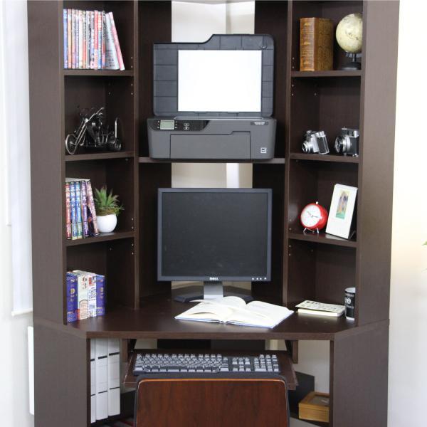 パソコンデスク l字 コーナー 三角 ダブルディスプレイ対応 日本製 送料無料 新生活  リモートワーク テレワーク 在宅勤務 ホームオフィス js115dbr homestyle 06