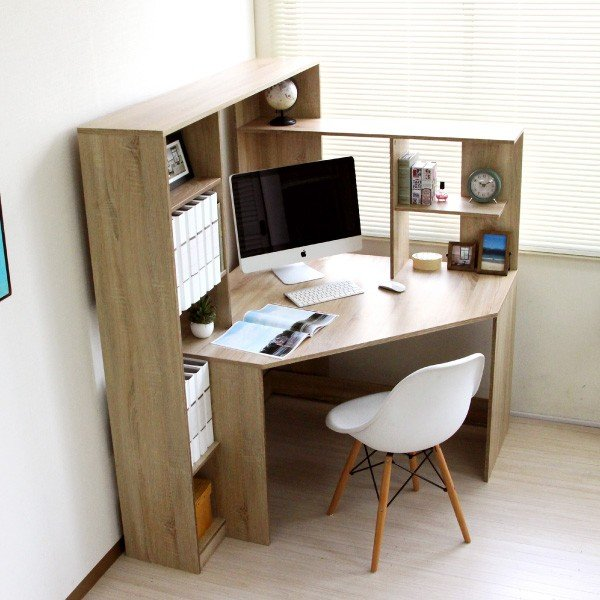 パソコンデスク l字 L字型 コーナー 幅125cm 幅100cm 収納 ブラウン 机 オフィスデスク リモートワーク テレワーク 在宅勤務 ホームオフィス PD001|homestyle|03