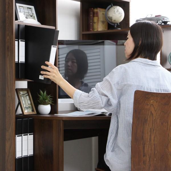 パソコンデスク l字 L字型 コーナー 幅125cm 幅100cm 収納 ブラウン 机 オフィスデスク リモートワーク テレワーク 在宅勤務 ホームオフィス PD001 セール|homestyle|08