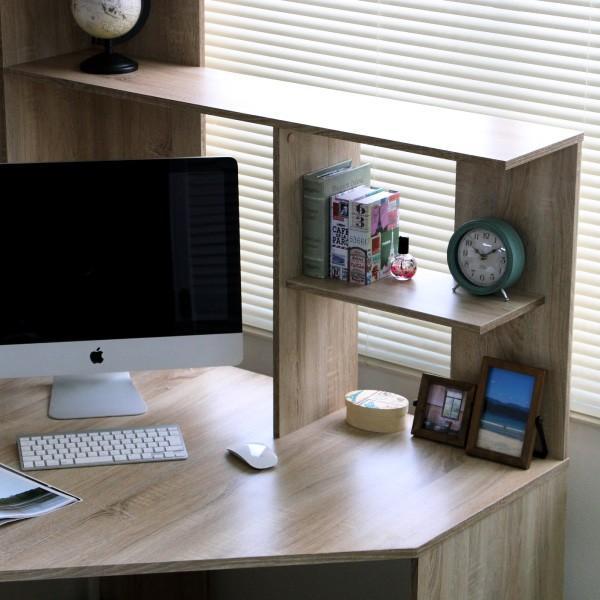 パソコンデスク l字 L字型 コーナー 幅125cm 幅100cm 収納 ブラウン 机 オフィスデスク リモートワーク テレワーク 在宅勤務 ホームオフィス PD001|homestyle|10