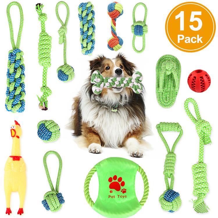 犬おもちゃ 犬用玩具 15個セット セール特価品 ドッグラン ペット用 ストレス解消 丈夫 中型犬に適用 小 耐久性 歯磨き 清潔 特売