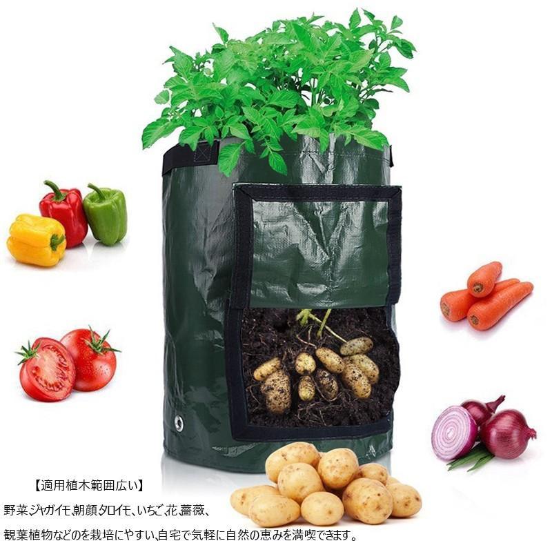 植え袋 プランター フェルト 丸い布鉢 不織布植木鉢 栽培バッグ じゃがいも用 栽培 バッグ ガーデン栽培袋 園芸ガーデン 植物育成 植木ポットコ|homesweethome|05