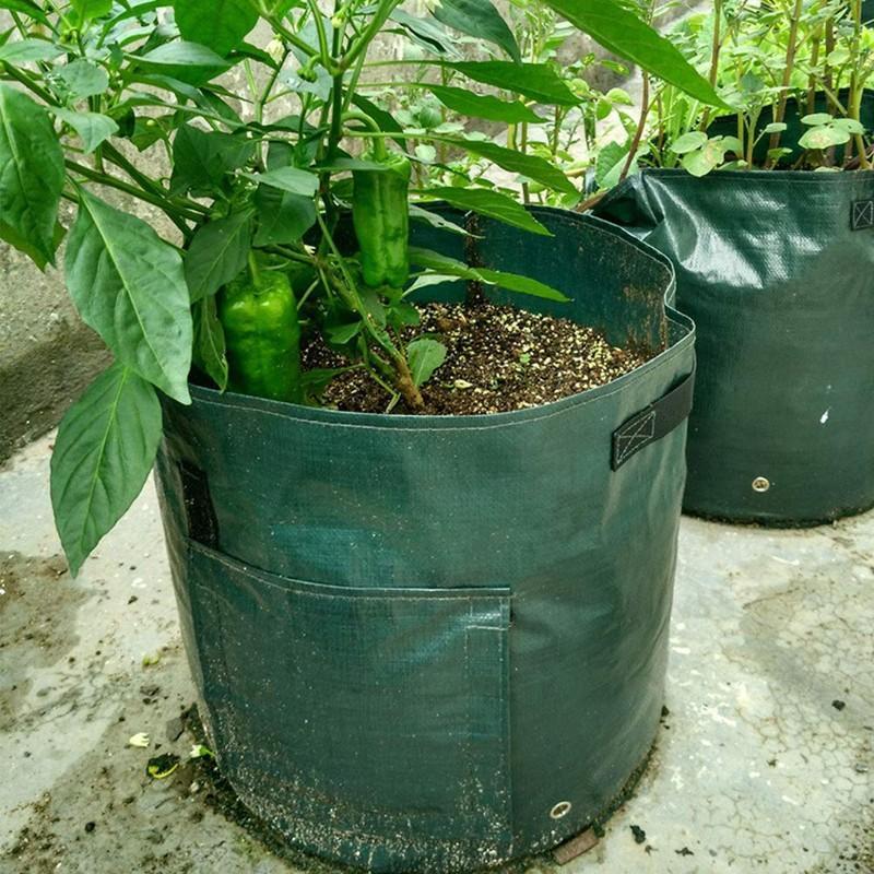 植え袋 プランター フェルト 丸い布鉢 不織布植木鉢 栽培バッグ じゃがいも用 栽培 バッグ ガーデン栽培袋 園芸ガーデン 植物育成 植木ポットコ|homesweethome|08