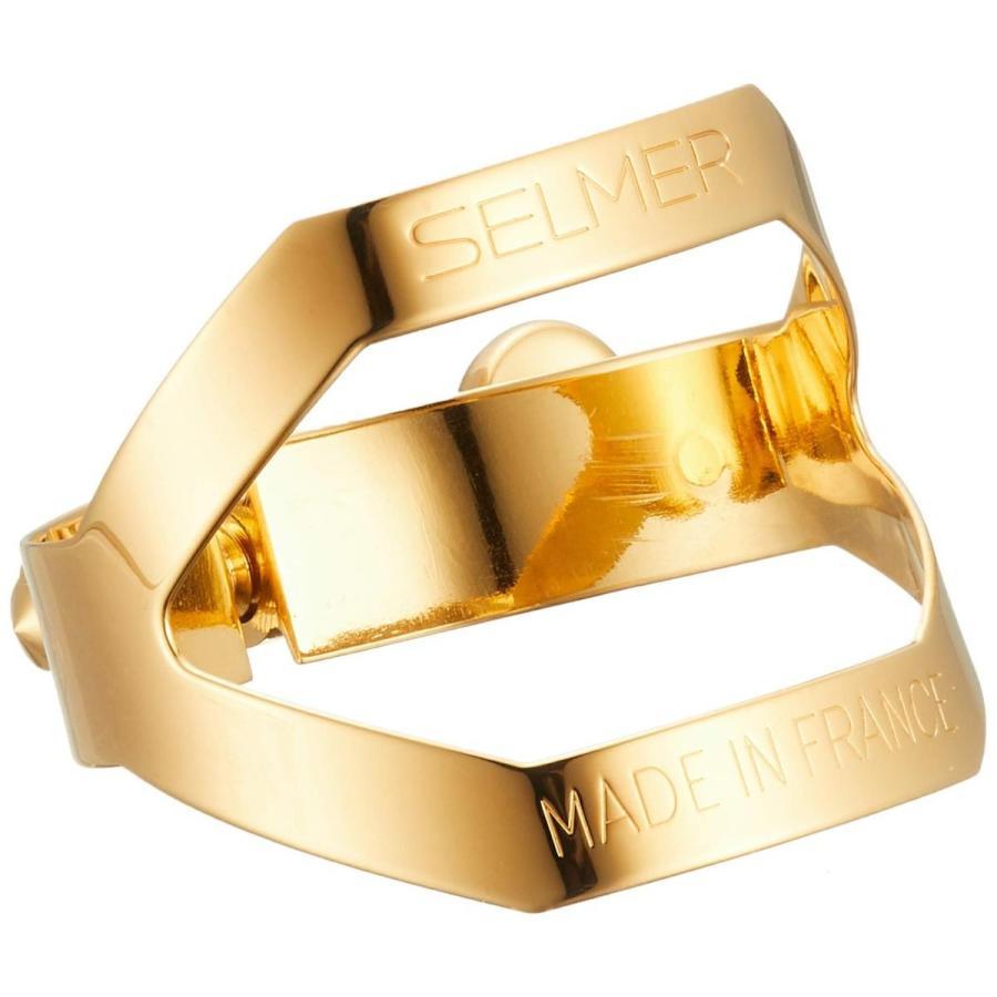 セルマー テナーサクソフォン リガチャー ゴールドプレート(金メッキ)仕上げ