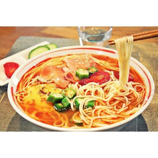 ラーメン お取り寄せ とまとラーメン セット 6人前 トマト栄養たっぷり お肌喜ぶ リコピン 洋風リゾット風 ロールキャベツ風 お試しグルメギフト|honba-kyusyu|17