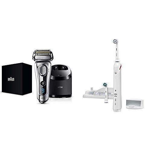 セット買いブラウン メンズ電気シェーバー シリーズ9 9292cc 5カットシステム 洗浄機付 水洗い/お風呂剃り可 つや消し仕上げ & ブ