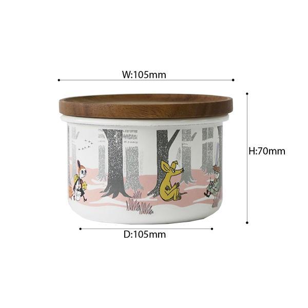 ホーロー 琺瑯 ほうろう MOOMIN 富士ホーロー ムーミンインザフォレスト 9cmキャニスターS  ホーロー キッチン用品 グッズ 収納 安心のメーカー直販|honeyware|02