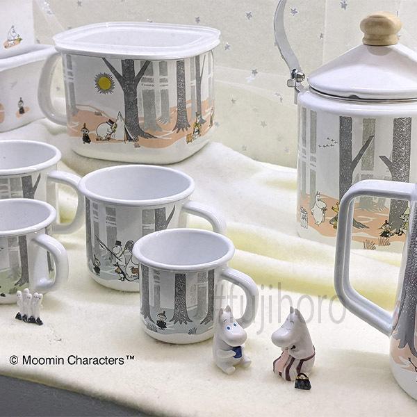 ホーロー 琺瑯 ほうろう MOOMIN 富士ホーロー ムーミンインザフォレスト 9cmキャニスターS  ホーロー キッチン用品 グッズ 収納 安心のメーカー直販|honeyware|06