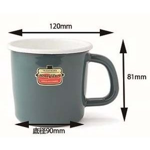 ホーロー マグカップ 保温性抜群 富士ホーロー ハニーウェア キッチン雑貨 Solid ソリッド アウトドア 8cmマグ 安心のメーカー直販|honeyware|07