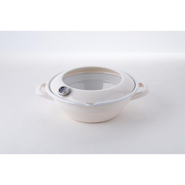 24cm ホーロー天ぷら鍋 (温度計付き)|honeyware|06