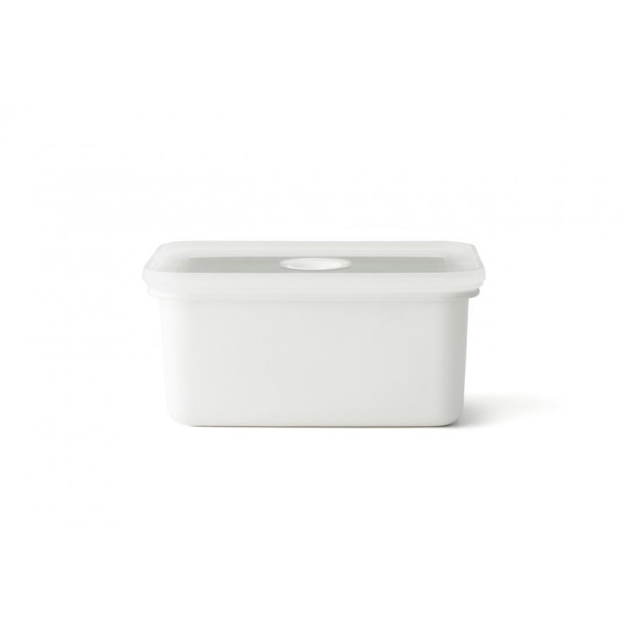 安心のメーカー直販 琺瑯 ほうろう ヴィードシリーズ 真空琺瑯容器 ヴィード深型角容器S真空保存容器ホーロー容器 直火 ハニーウェア 富士ホーロー|honeyware