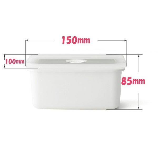 安心のメーカー直販 琺瑯 ほうろう ヴィードシリーズ 真空琺瑯容器 ヴィード深型角容器S真空保存容器ホーロー容器 直火 ハニーウェア 富士ホーロー|honeyware|02