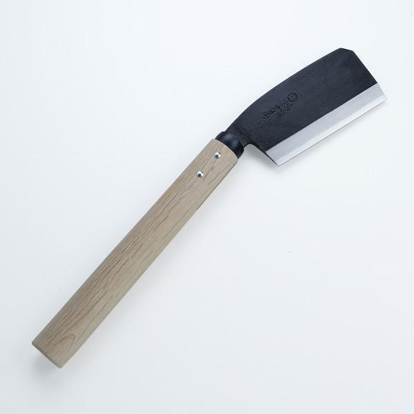 鉈 ナタ 柄 片刃東型 白樫柄 床皮刃当て付