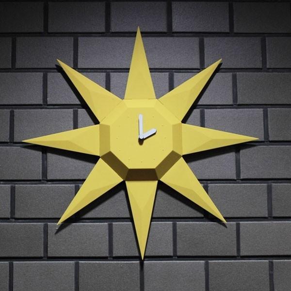 置き時計にも掛け時計にもなる。2WAYジェムストーンクロック