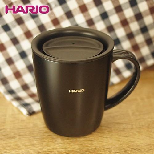 ハリオ HARIO フタ付き保温マグ300(300ml/ブラック) (SMF-300-B)  honpo-online