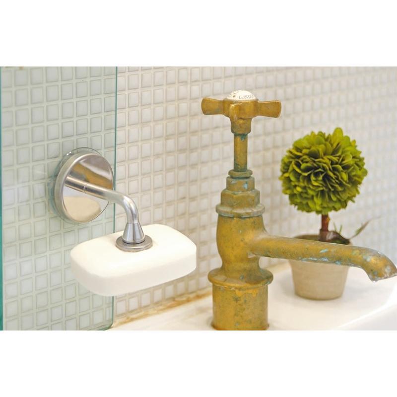 メディアで紹介! 壁に付けるおしゃれな石鹸置き マグネット ソープ ホルダー ダルトン CH12-H463 (S:0240)