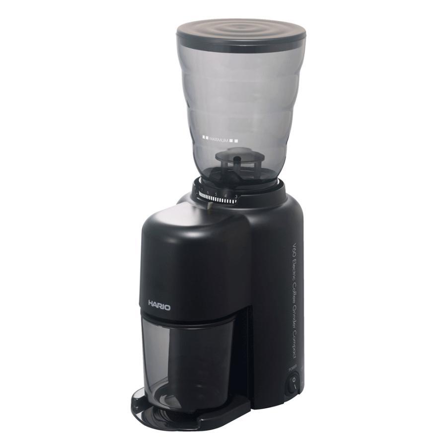 ハリオ HARIO V60電動コーヒーグラインダーコンパクト EVC-8B コーヒー豆 約100g|hoonstore