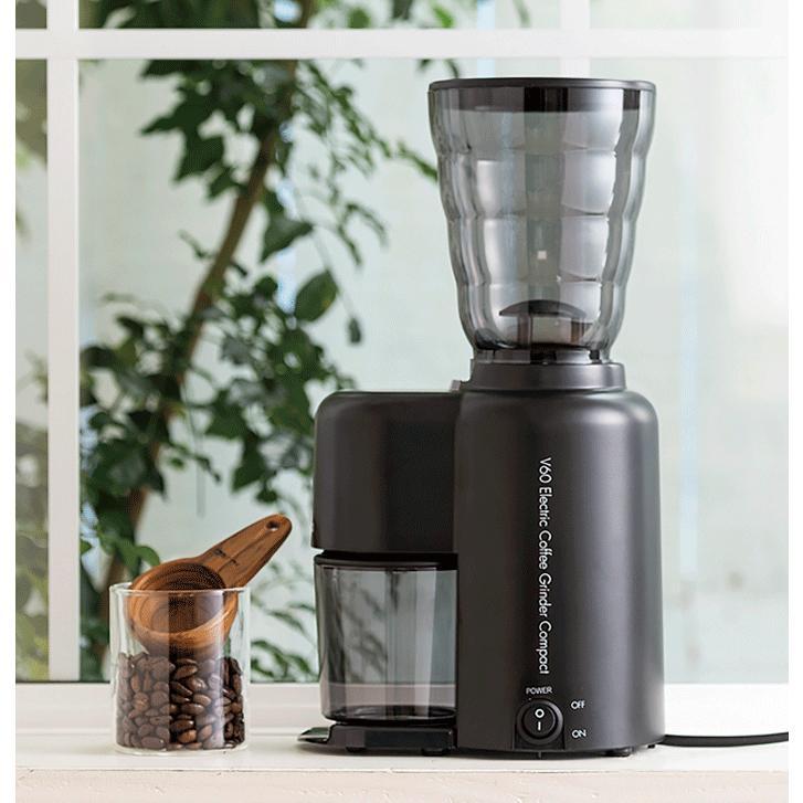 ハリオ HARIO V60電動コーヒーグラインダーコンパクト EVC-8B コーヒー豆 約100g|hoonstore|02