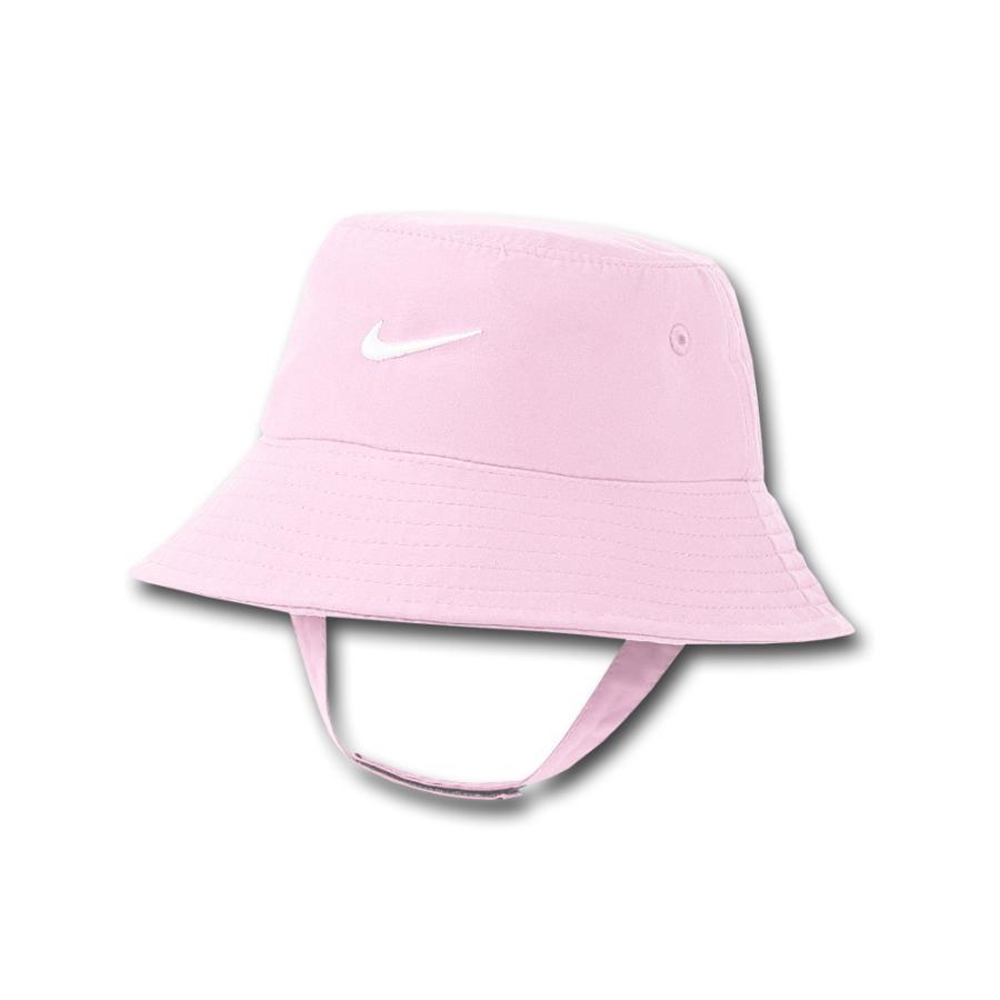 ベビー ナイキ UVカット バケットハット Nike Bucket Hat Infant UPF40+ 赤ちゃん 帽子 ピンク白 BA616