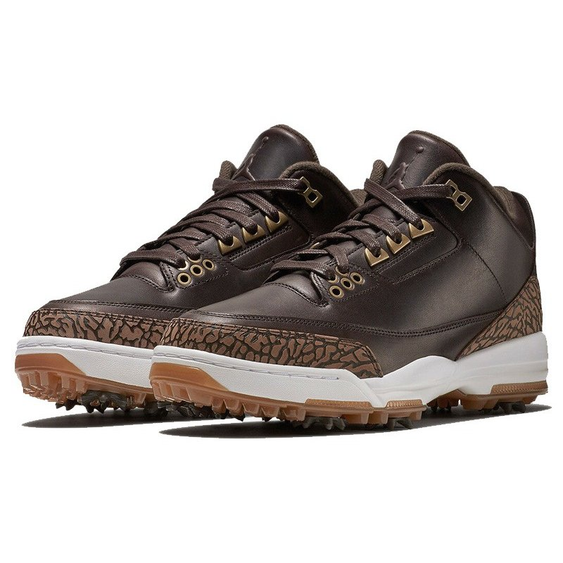 TS264 海外取り寄せ メンズ Air Jordan III 3 Premium Golf Shoes エアジョーダン ゴルフシューズ 箱無し