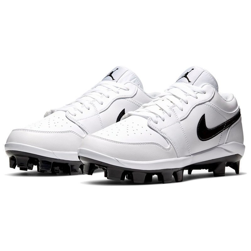 TS277 海外取り寄せ メンズ Air Jordan 1 Baseball Cleats ジョーダン 野球 スパイク 白