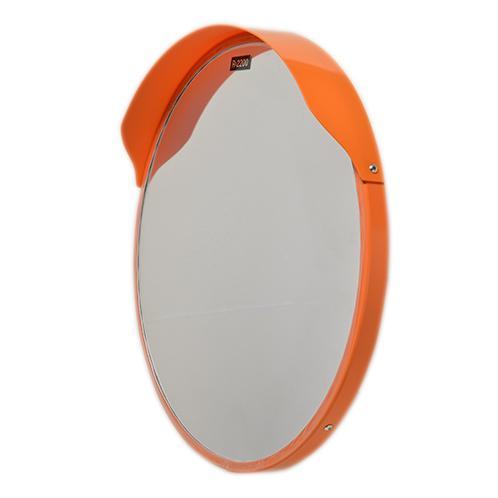 カーブミラー 丸型600φ アクリル製 道路反射鏡  日本製 オレンジ色 HPLA-丸600Sオレンジ