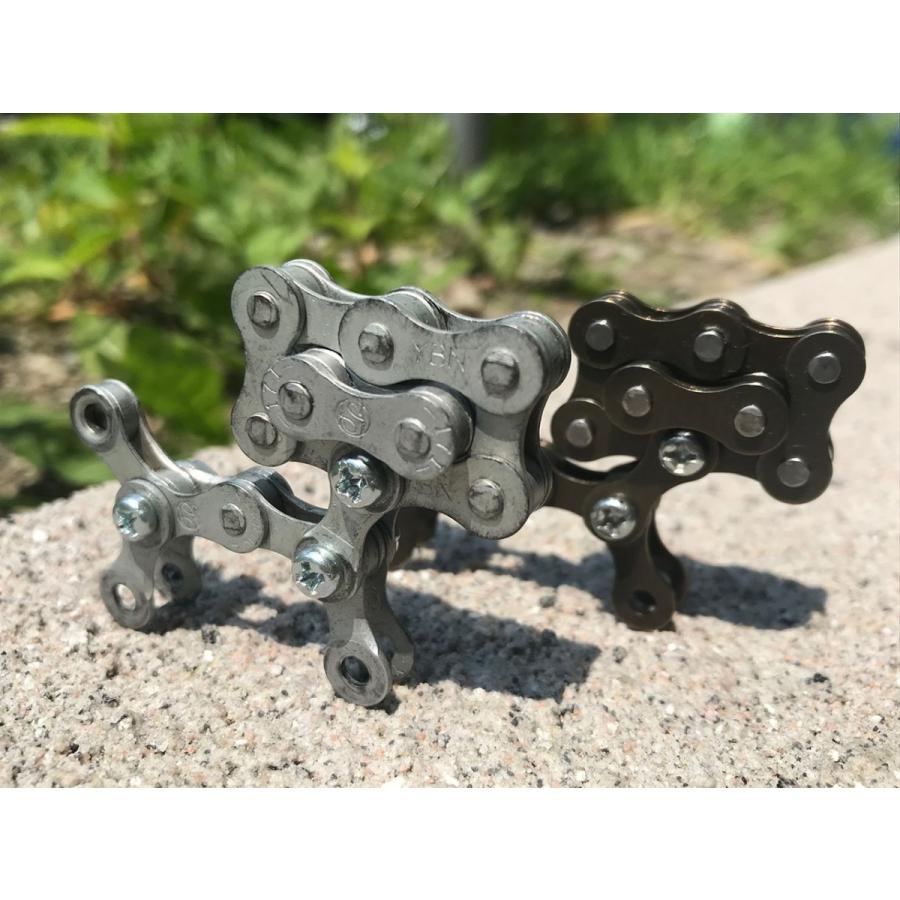インテリア小物 自転車 チェーン 犬 オシャレ シンプル パーツ john002 チェーン犬ジョン(シルバー)|hope-kobo|03