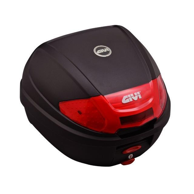 セール特価 送料無料 GIVI ジビ リアボックス バイク用 ボックス モノロックケース E300N2 未塗装ブラック(黒) 76872|アイネット PayPayモール店