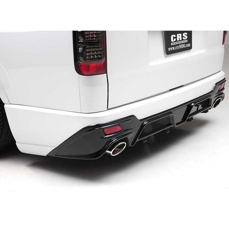 ハイエース/レジアスエース 200系 1型 2型 3型 4型 標準 ナロー クワトロリアバンパー ツートン塗装済み CRS ESSEX エセックス シーアールエス 個人宅発送不可