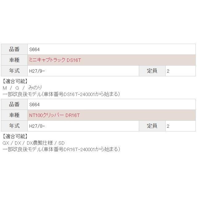 Bellezza ベレッツァ CASUAL カジュアル ミニキャブトラック NT100クリッパー DS16T DR16T シートカバー M G みのり GX DX DX農繁仕様 SD 品番 S664|horidashimono|03