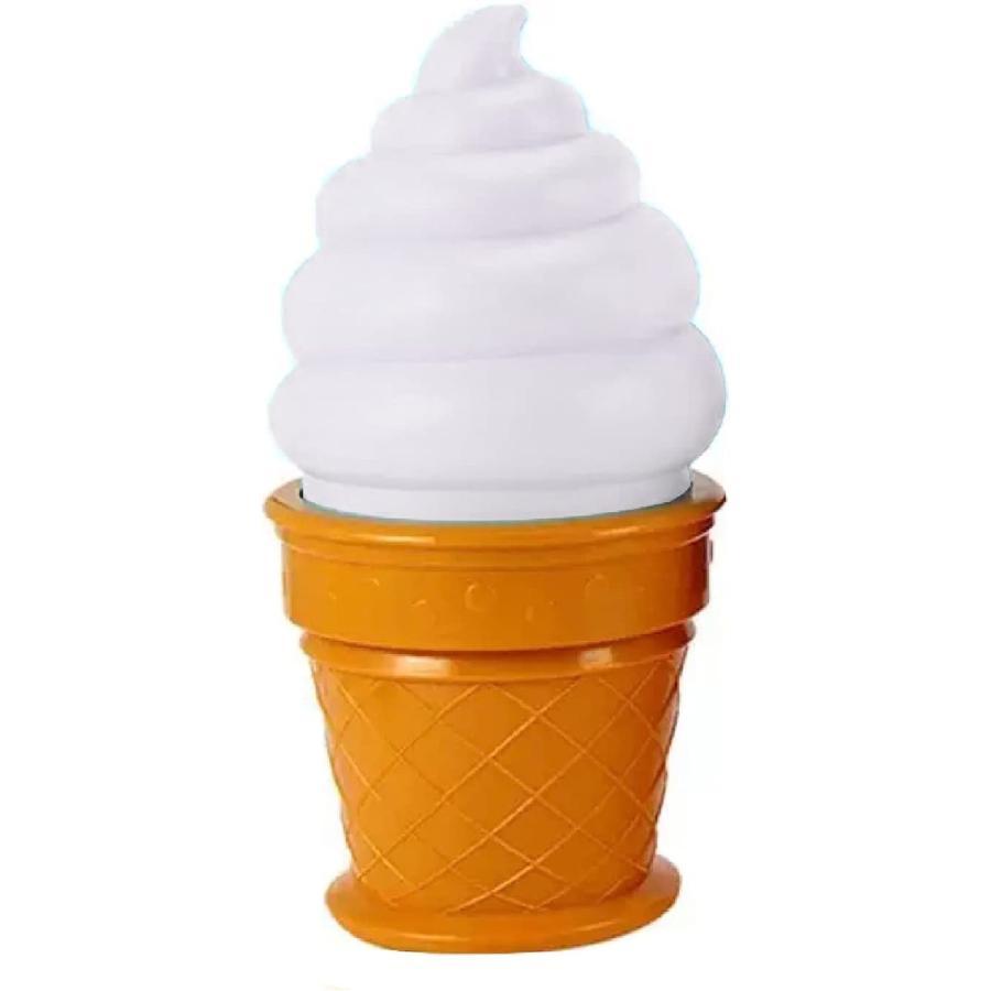 ソフトクリーム型ランプ 常夜灯 寝室小夜灯 激安通販販売 新品未使用 子供部屋飾り ホワイト 夜間照明 MDM