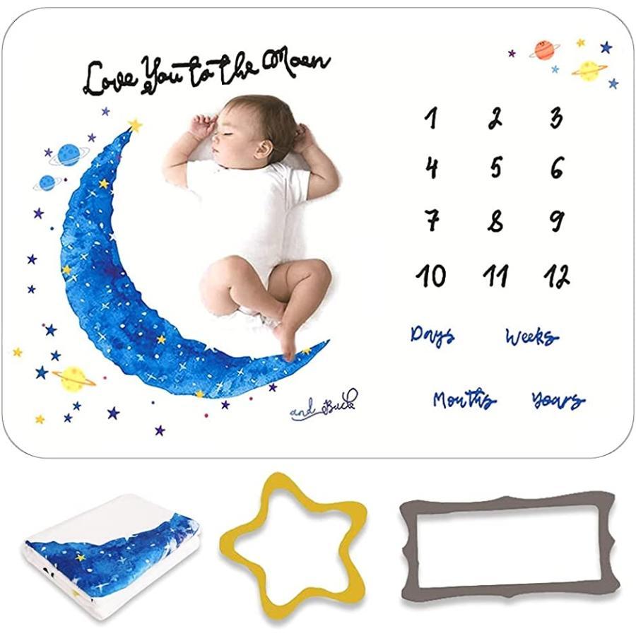 寝相アート 月齢フォト マット ベビー 贈答 撮影シーツ 薄手 成長記録 赤ちゃん ブランケット 超激安 プレゼント ネイビー