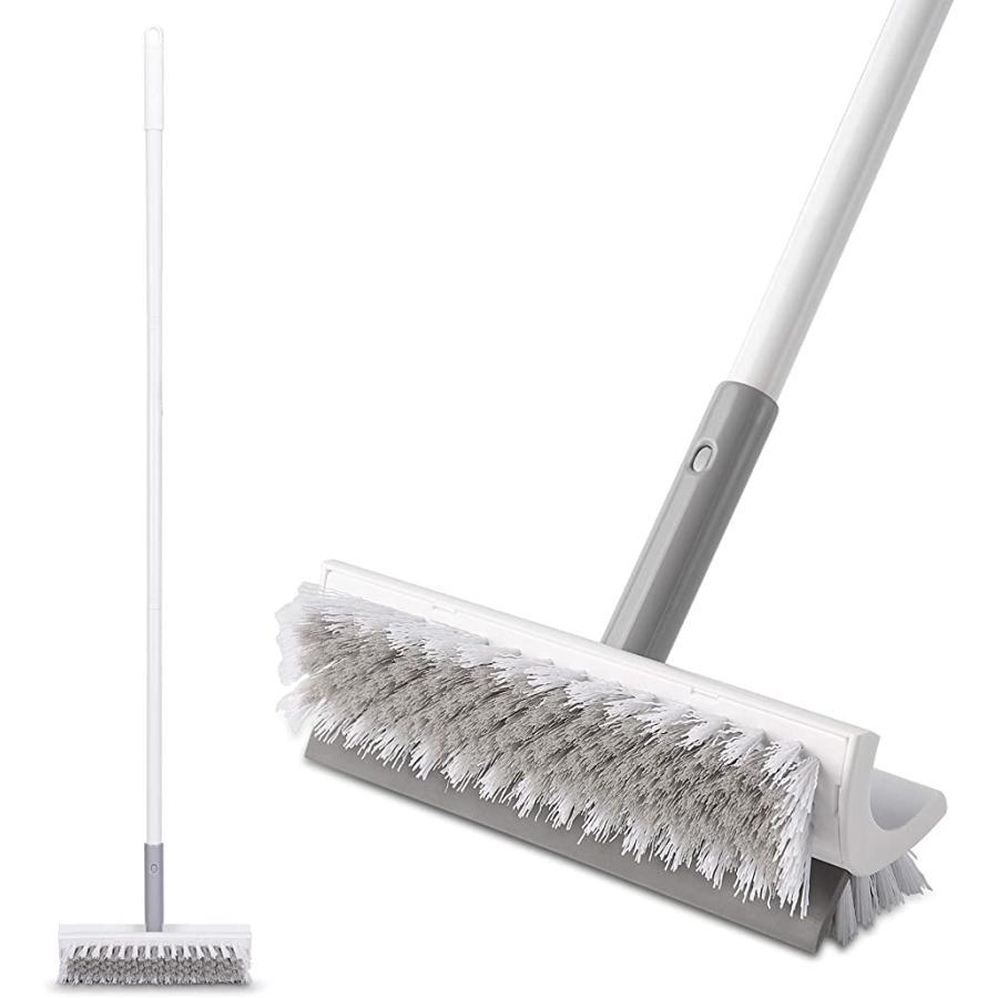 浴室掃除用ブラシ 注文後の変更キャンセル返品 デッキブラシ 風呂掃除 両面ブラシ 2020A W新作送料無料 ホワイト A ハードブラシ 50〜122cm調節可能