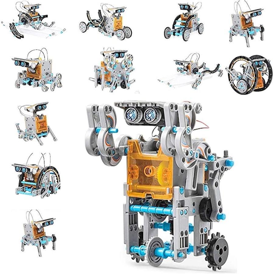 現品 激安セール GREE-S ソーラー工作ロボット 12種類 ロボット作成キット 科学実験 自由研究 小学生 知育玩具