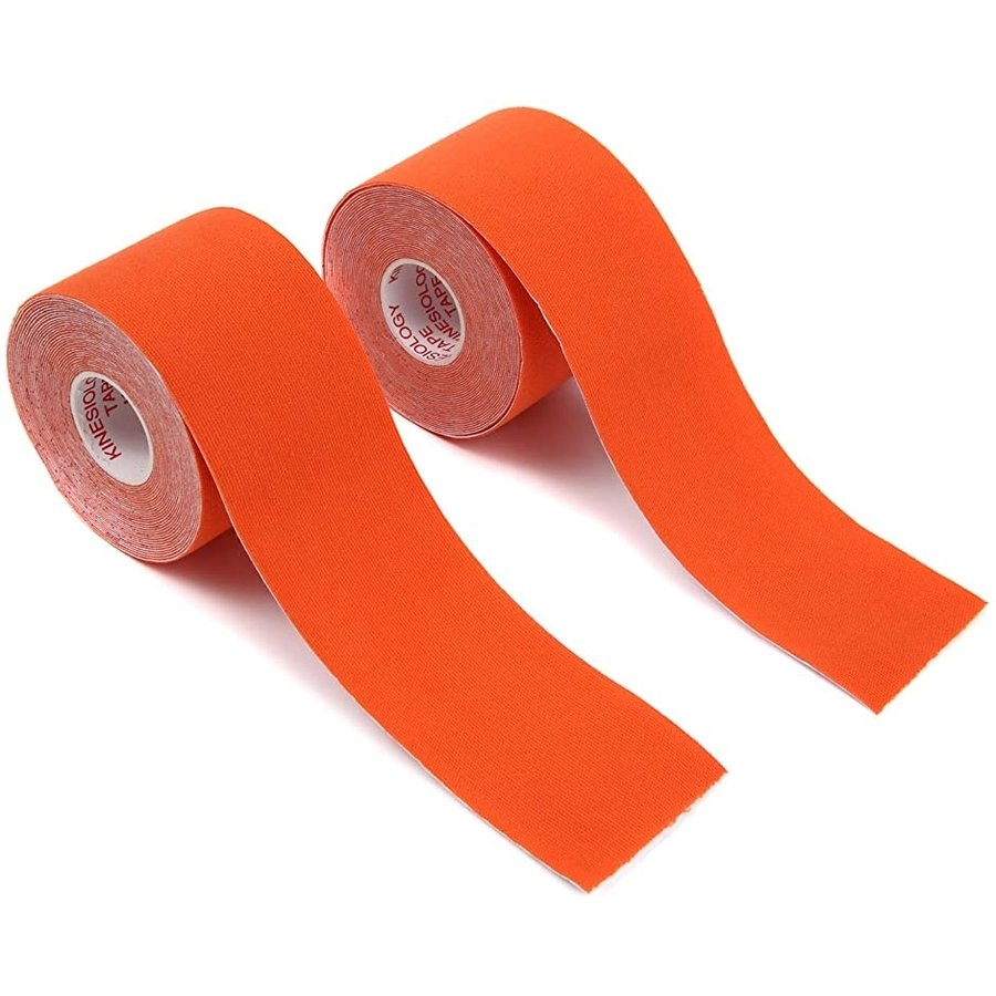 40%OFFの激安セール テーピングテープ キネシオロジーテープ 2巻入 公式 サポート 通気性伸縮性汗に強い オレンジ x 5cm 5m