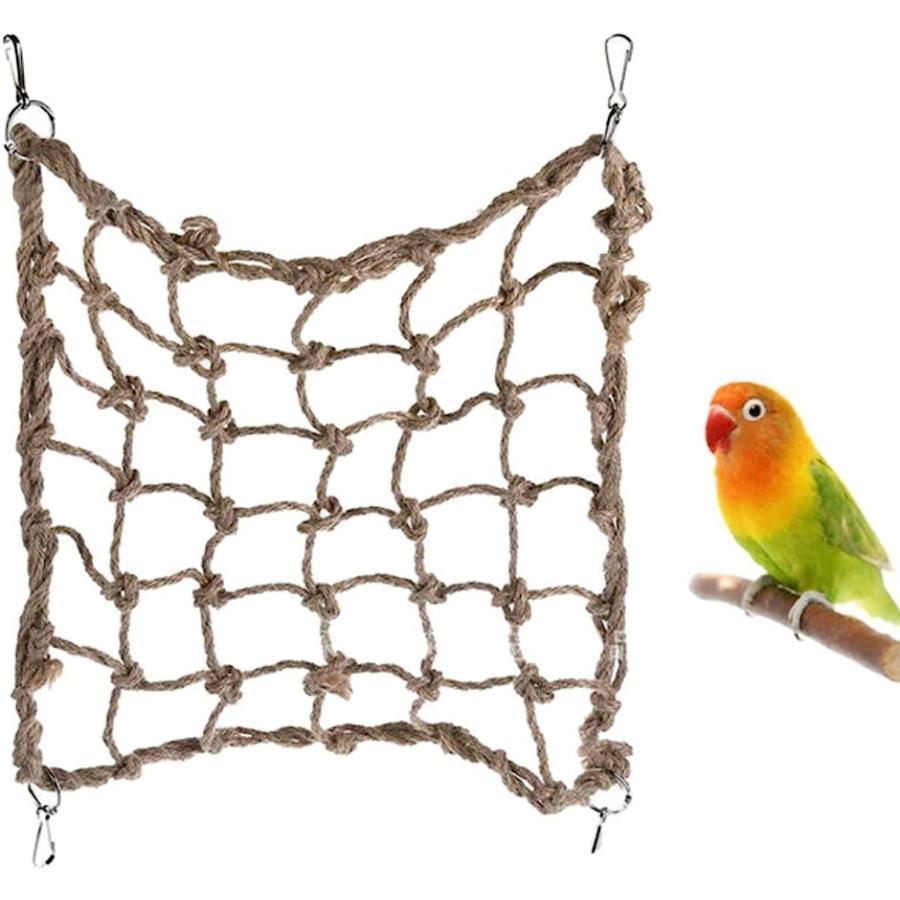 インコ おもちゃ 18%OFF クライミング ネット アスレチック 卓越 ペット 遊び場 60cm?60cm ハム 文鳥 運動 オウム ストレス解消