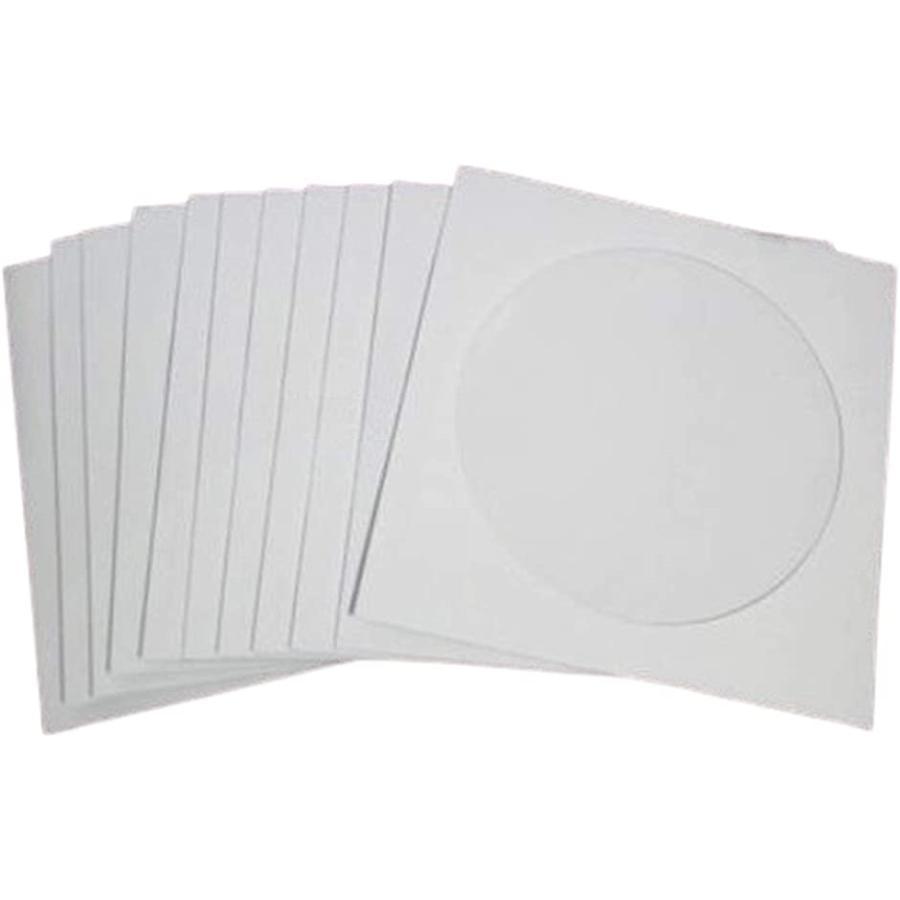 誕生日/お祝い ついに入荷 cd ペーパー スリーブ ケース dvd ホワイト 100枚 収納 大容量