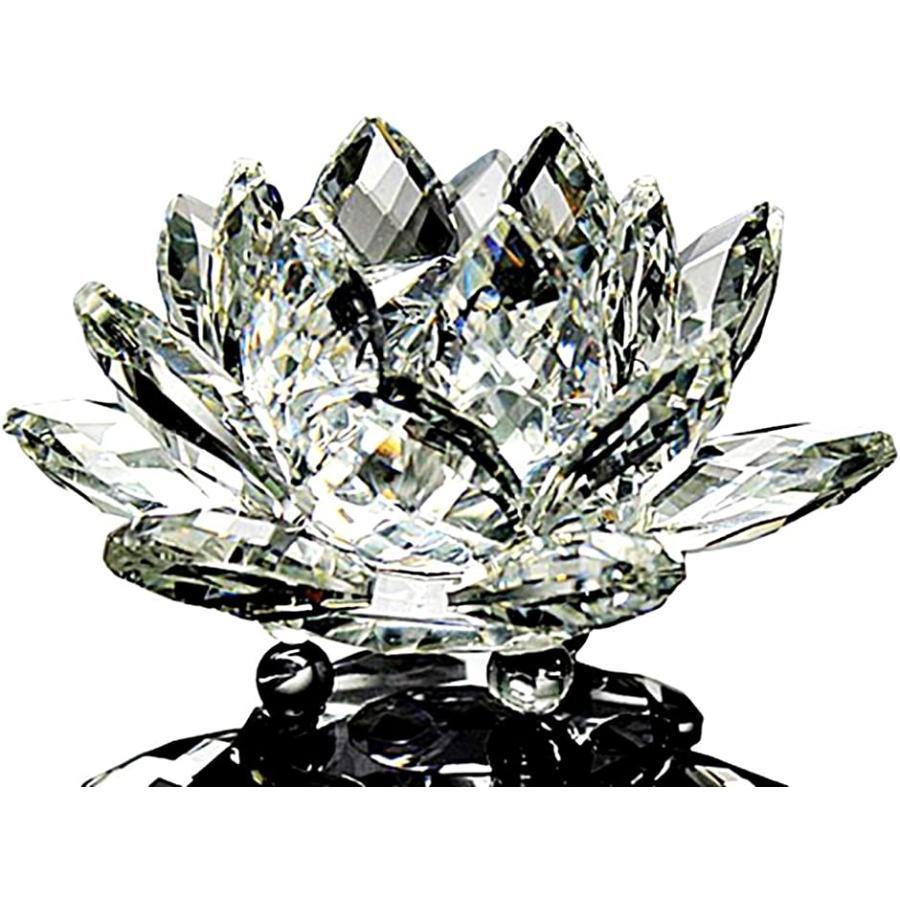 クリスタルガラス 結婚祝い 水晶玉 蓮の花 ロータス サンキャッチャー 風水 クリア ギフト セール 特集 インテリア 10cm オブジェ プリズム